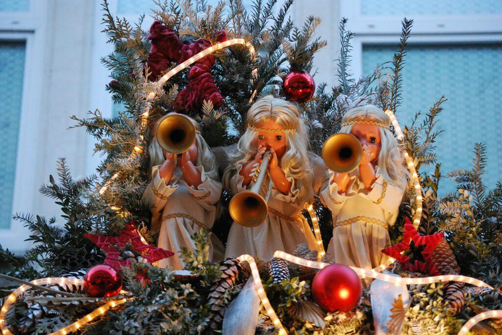 angels, christmas, decoration